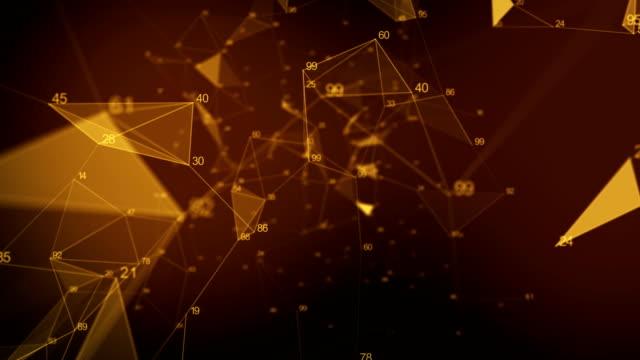 netzwerk-technologie 4k - gold - plexus brachialis stock-videos und b-roll-filmmaterial