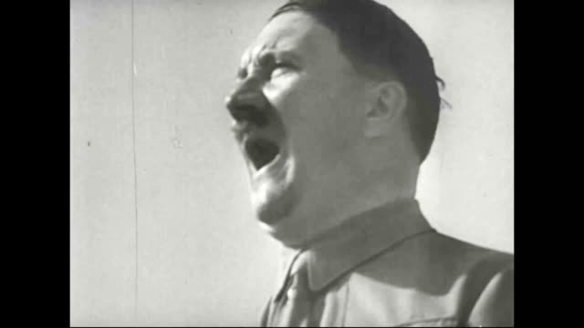 stockvideo's en b-roll-footage met . - hitler speech