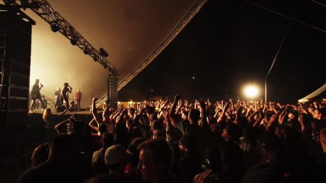 Concert performance at Creation Music Festival slow motion