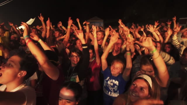 Slow motion crowd at Creation Music Festival