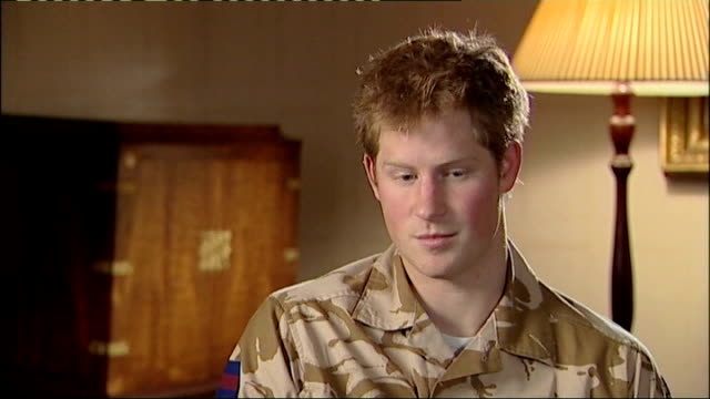 prince harry is serving in afghanistan december 2007 clarence house int prince harry interview sot one of the main reasons that i'm not allowed to be... - passing out parade stock videos & royalty-free footage