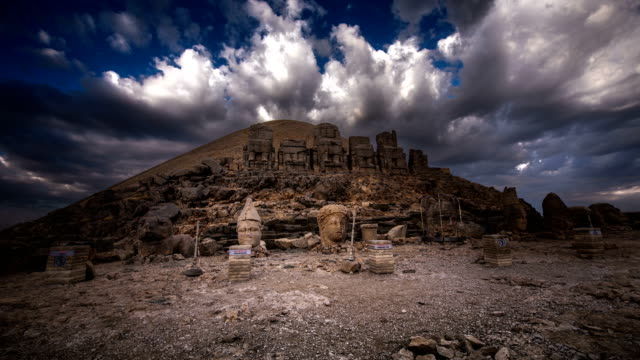 mt nemrut, turkey - eastern european culture stock videos & royalty-free footage