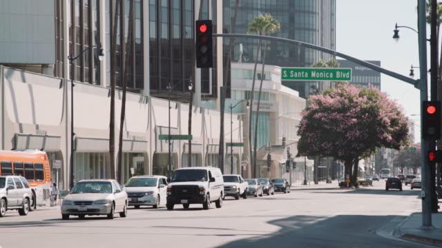 santa monica cityscape - santa monica sign stock videos & royalty-free footage