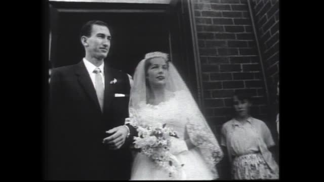 herb elliott wedding/ herb elliott bride ann dudley at the church holy rosary church nedlands / arriving and entering int church exiting various... - herb stock videos & royalty-free footage