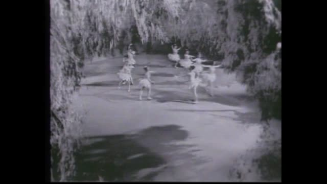 1963 several scene excerpts from the nutcracker suite featuring the western australian ballet company filmed in tvw studio one sugar plum fairy - fairy stock videos & royalty-free footage