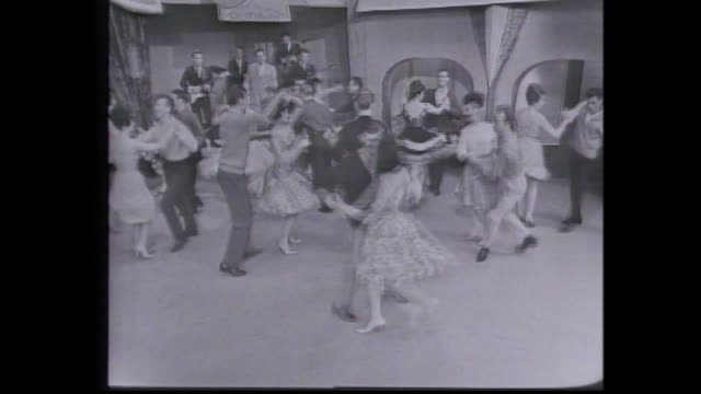 """invitation to the dance"" was one the first programs produced in tvw's studio one in 1963 / program traced the history of dance over a four hundred... - lambeth stock-videos und b-roll-filmmaterial"