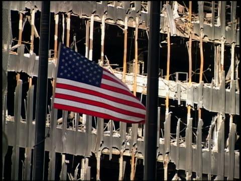 . - attentati terroristici dell'11 settembre 2001 video stock e b–roll