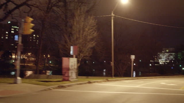 process plate straight right of driving on euclid ave. or city streets past severance hall. university circle area. christmas decorations. - cleveland stock videos and b-roll footage