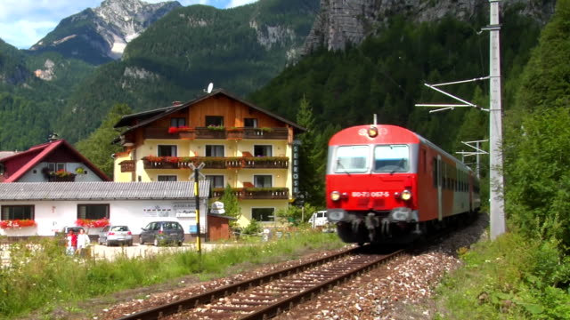 train obertraun - 2007 stock videos & royalty-free footage