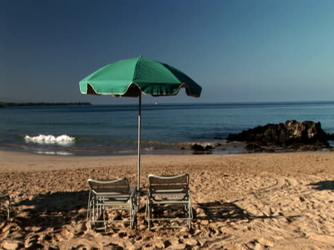 beach chair - stationary process plate stock videos & royalty-free footage