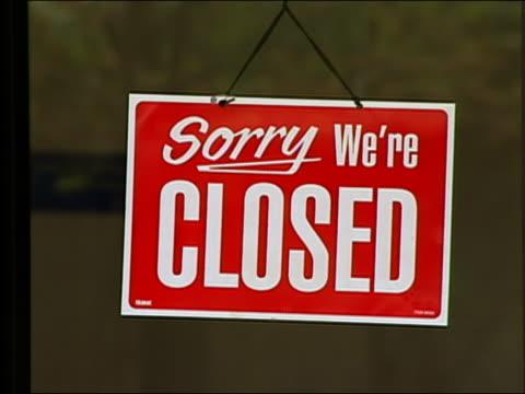 - closed sign stock videos and b-roll footage