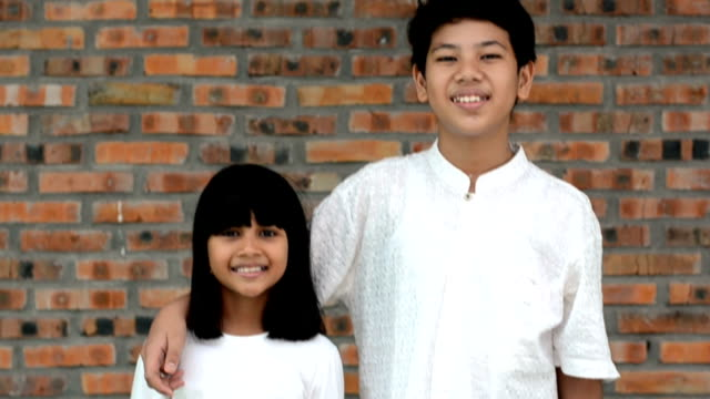 siblings - indonesian ethnicity stock videos & royalty-free footage