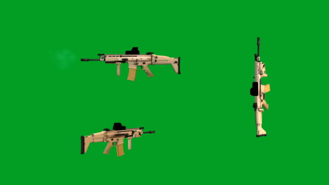 mk 16 fn scar - weapon stock videos and b-roll footage