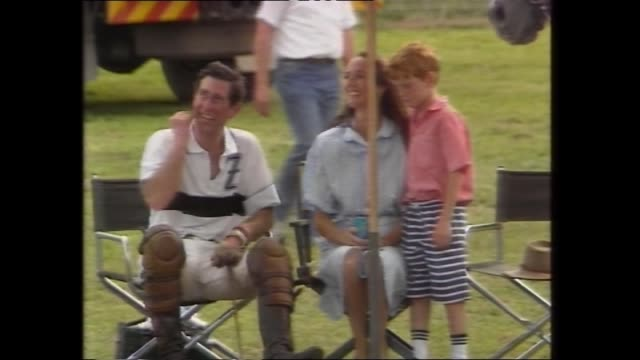 ELLERSTON SCONE PRINCE CHARLES PLAYING POLO / SPECTATORS / PRESS WATCHING / CHARLES PLAYING – SCORES GOAL / CHARLES CHATS WITH RELATIVES OF SARAH...