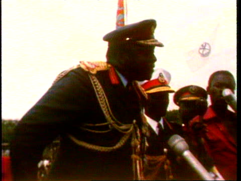 January 28 1978 President of Uganda Idi Amin explaining that his government does not violate human rights/ Uganda/ AUDIO