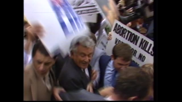 bob hawke and wills candidates / hawke sings happy birthday for hazel / cu hazel / official announces hawke duly elected / file campaign protesters... - bob hawke stock videos and b-roll footage