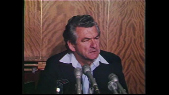 bob hawke interview on pre selection as alp candidate for federal seat of wills / graphic alp victorian preselections today's outcomes - bob hawke stock videos and b-roll footage