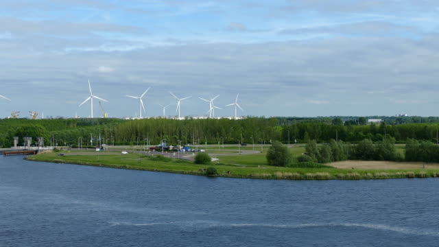 wind turbine - netherlands stock videos & royalty-free footage