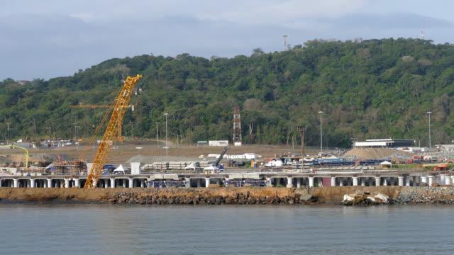 新しいポート - パナマ運河点の映像素材/bロール