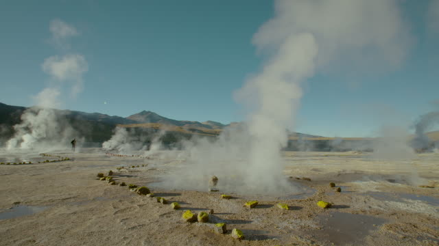 tatio geysers, atacama desert - 40 seconds or greater stock videos & royalty-free footage