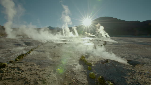 tatio geysers, atacama desert - 30 seconds or greater stock videos & royalty-free footage