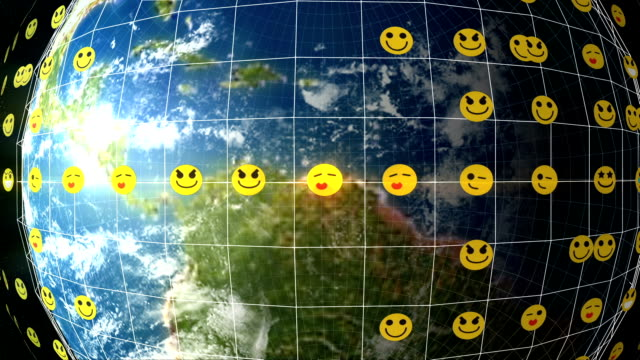 earth emoticon network - emoticon stock videos and b-roll footage
