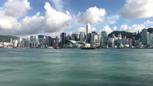 hong kong victoria harbour - 3d time lapse - スターフェリー点の映像素材/bロール