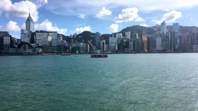hong kong - victoria harbour - wanchai stock videos and b-roll footage