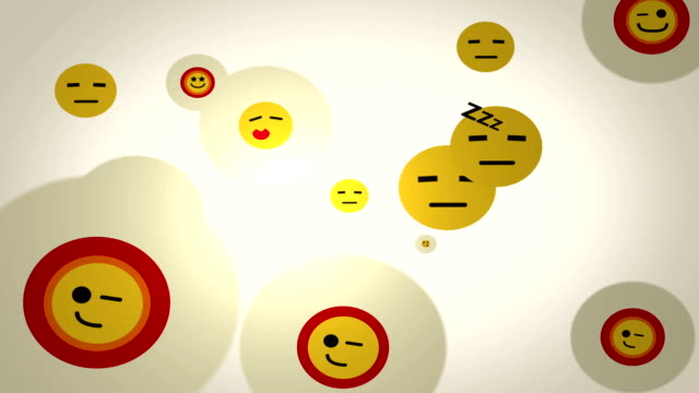 emoticons loop background - emotional stress stock videos & royalty-free footage