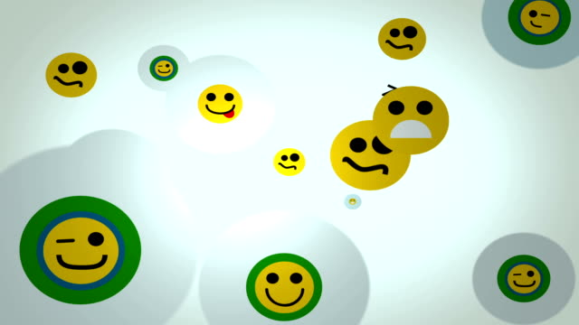emoticons loop background - emoticon stock videos and b-roll footage
