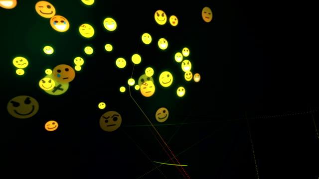 絵文字ネットワーク - コメディアン点の映像素材/bロール