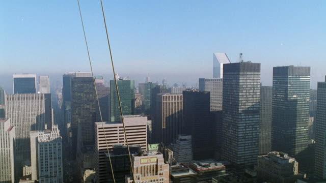 wide angle of new york city skyline. - 1995年点の映像素材/bロール