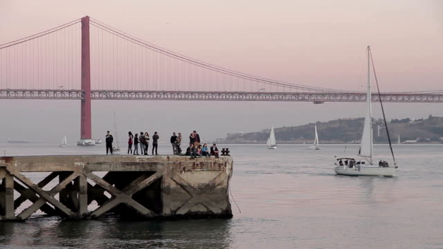 lisbon tejo - lisbon stock videos and b-roll footage