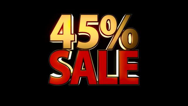 verkauf (45 %, 50 % und 55 %) - ausverkauf stock-videos und b-roll-filmmaterial