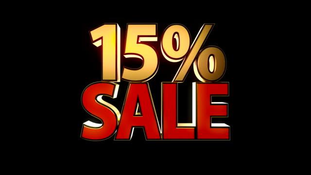 verkauf (15 %, 20 % und 25 %) - ausverkauf stock-videos und b-roll-filmmaterial