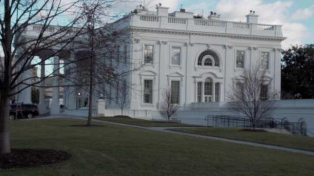 the white house winter - white house washington dc stock videos & royalty-free footage