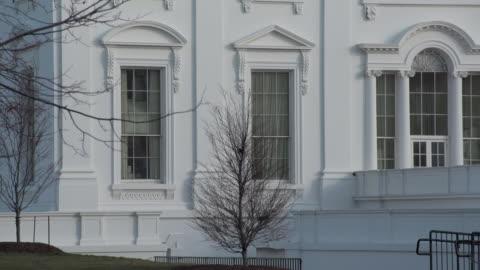 the white house winter - white house washington dc stock videos & royalty-free footage