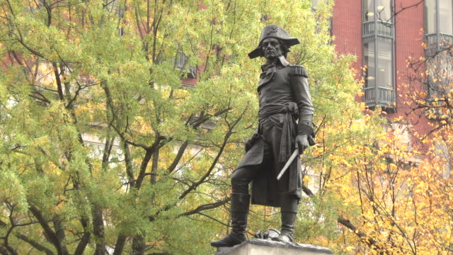 koskiusko statue, lafayette square - lafayette square washington dc stock videos & royalty-free footage