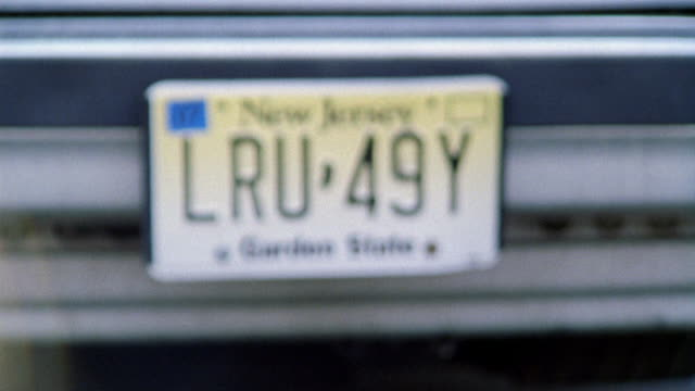 close angle of a new jersey license plate. - number plate stock videos & royalty-free footage