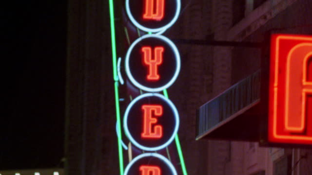 "NEON SIGNS ON BEALE STREET IN MEMPHIS, TENNESSEE. ""DYER'S "" AND ""WET WILLIE'S."""