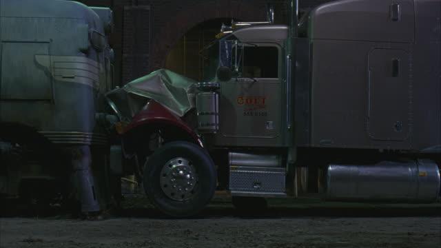 Fireball Truck Sales >> Medium Angle Of Colt Semitruck Eighteen Wheeler Collided