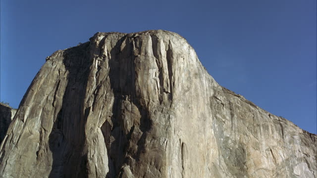 up angle el capitan in yosemite valley, yosemite national park. - el capitan yosemite national park stock videos and b-roll footage