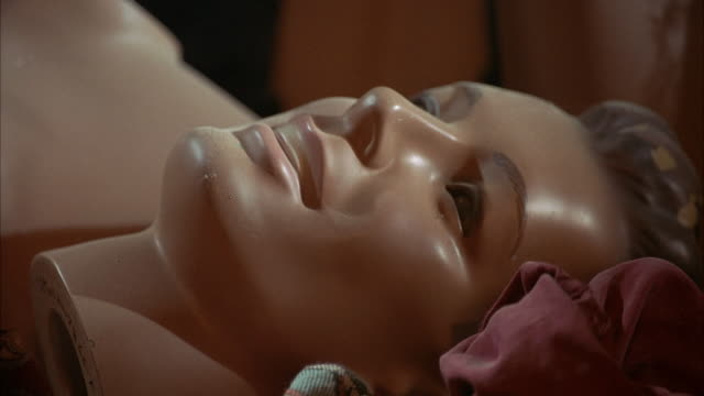 close angle head of modern male mannequin. - mannequin stock videos & royalty-free footage