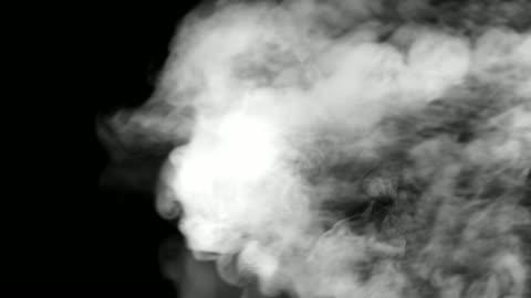stockvideo's en b-roll-footage met stoom en rook effect - black background
