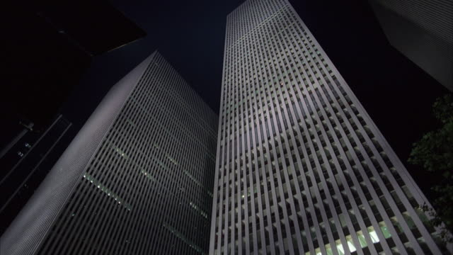 est up angle on the world trade center. - the center stock videos and b-roll footage