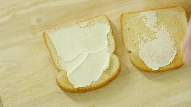 blt sandwich - panino ripieno video stock e b–roll