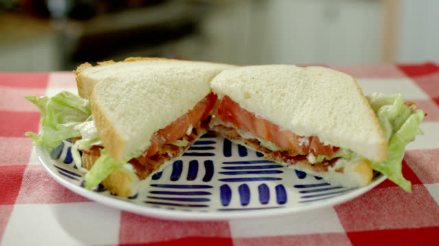blt sandwich - sandwich stock videos & royalty-free footage
