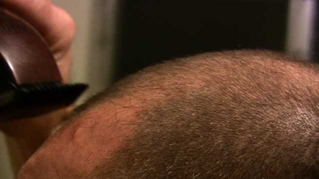 shaving head (hd) - human hair stock videos & royalty-free footage
