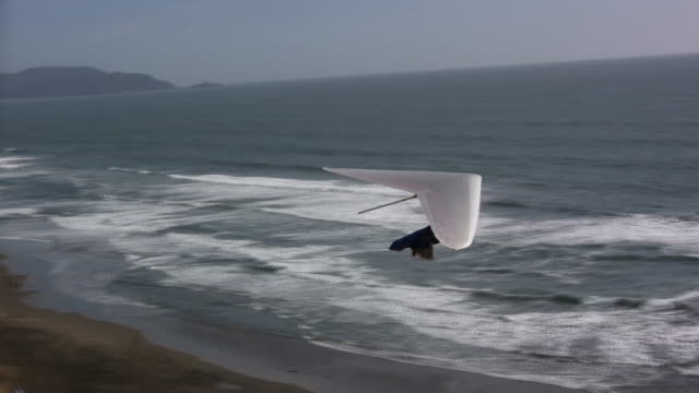 taking off (hd) - hang gliding stock videos and b-roll footage