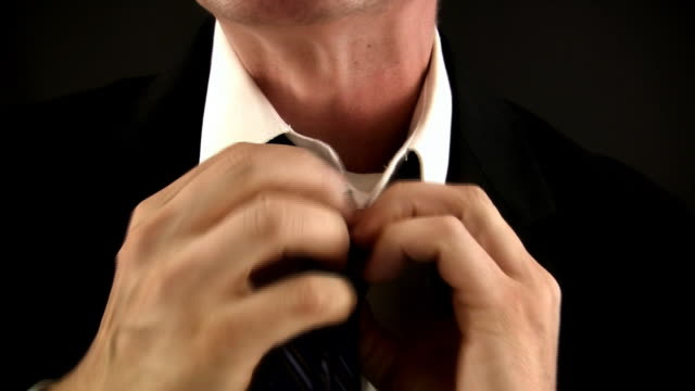 tight necktie (hd/dv) - tie stock videos & royalty-free footage